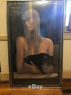 Jmw Chrzanoska Encadrée Art Deco Lady Et Chat