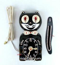 L'électrique Black-kit Cat Klock-kat De L'année 1960 Renforcement Des Moteurs Originaux De Vintage États-unis