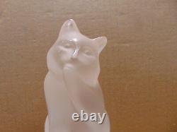 Lalique Cat Signé #11677 France