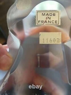 Lalique Crystal Cat Paris France Crouching Cat