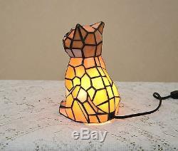 Lampe De Table Lumineuse De Nuit En Verre Teinté Kitty Cat