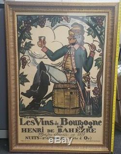 Lg Originale. Affiche Vintage Encadrée Guy Arnoux -nuits Saint Georges -1930