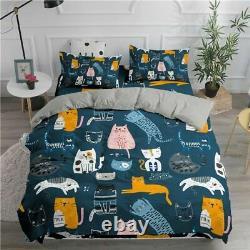 Literie Set Cats 3d Duvet Cover Set Twin Full Queen King Double Sizes Comforter