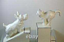 Livrets En Céramique De Style Art Déco Cat & Dog Noir & Blanc