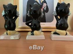 Lorna Bailey Cat Set Rois Cats Tous Signé Original Et Amusant
