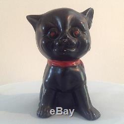 Louis Art Deco Style Wain Poterie Sourire Black Cat 1920 30 De