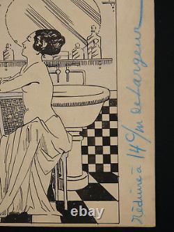Lucien Guy (xix-xx) Encre Chinoise 2 Femmes Nues Nu Érotique Époque Art Deco 1930