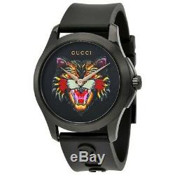 Montre Unisexe Gucci Black Silicon Angry Cat 38 MM Ya1264021