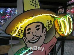 Neon Vintage 1960 Mexicain Taco-tamale Guy Antique Collection / Art Deco