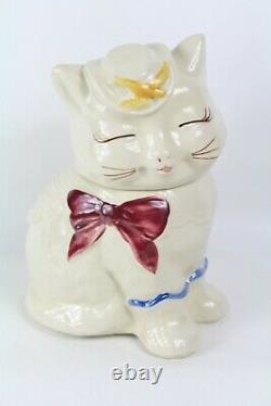Old Shawnee Pottery Puss N Bottes Cat Cookie Jar Fabriqué Aux États-unis