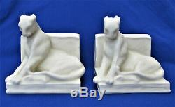 Paire Rookwood Art Deco Poterie Panther Cats Bookends William Purcell Mcdonald