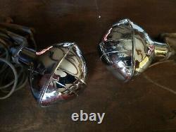 Paire Vintage Art Déco Cats Eye Fog Backup Parking Light B-l-c B-j8