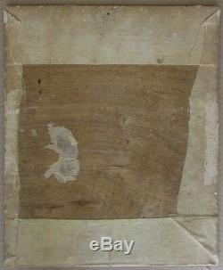 Pierre Van Parys Bourdelle (1903-1966) Art Déco Peinture À L'huile Cat Signé 1928