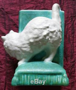 Poterie Vintage Bretby Art Déco Cat Serre-livres. Conception 2957. Vgc