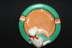 Rare Art Déco Vintage Noritake Cat Cendrier M-japon