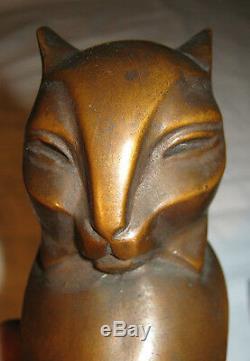 Rare Serre-livres Statues De Chat Médiéval Égyptien Gothique Égyptien Gothique