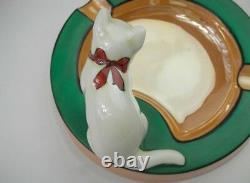 Rare Vintage Art Déco Noritake Cat Cendray M-japon