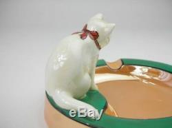 Rare Vintage Cendrier Art Déco Noritake Cat M-japan