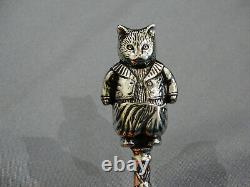 Rattle Baby Sterling Argent Antique 925 Cat Art Déco Style Ornate