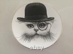 Rory Dobner Ensemble De Quatre Chats Avec Plaques Monocle Angleterre