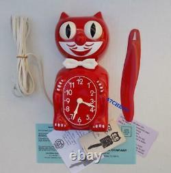 Rouge-vintage De 1980 Cat Klock-kat Clock-original Moto Rebuilt-felix