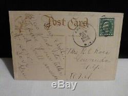 Scarce Art Déco Vintage 2cats & A Jol-halloween Carte Postale-pub. Par Perfection Rose
