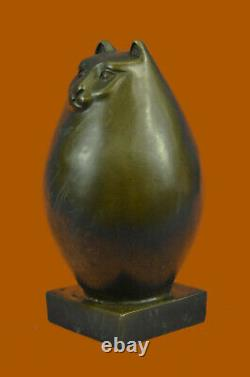 Sculpture En Bronze Par Botero Cat Gato Feline Pet Animal Art Déco Statue Figurine