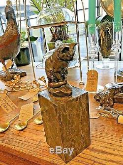 Sculpture En Bronze Par Milo Chat Gato Félin Animaux Animaux Art Déco Statue Figurine