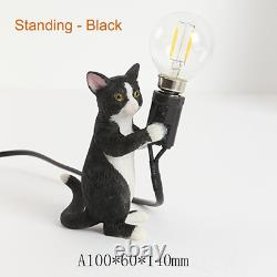 Seletti Moderne Résine Animal Cat Lampe De Table Petite Mini Led Bureau Lumière Chambre Pour Enfants