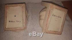 Serre Livres Faïences Craquelée Chat Cat Édition Kaza G. Beauvais Art Déco