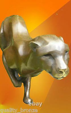 Sprinting Cheetah, Statue De Bronze Pur Animal Figurine Cat Chaud Cast Sculpture