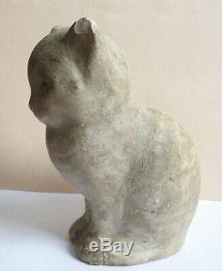 Statuette Chat Statue De Félix Chaton Fevola (1882-1953) Art Déco De 1930 Vers Chat