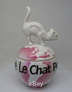 Style Art Déco Boîte À Bijoux Figurine Boîte De Poudre Faune Cat Style Art Nouveau Po