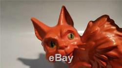 Sylvac Rare Art Déco D'orange 1930 Scaredy Cat 1046 6 15cm Haut