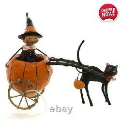Transport Ride Sorcière Citrouille Chat Noir Halloween Figurine Décor Keepsake Gift Fun