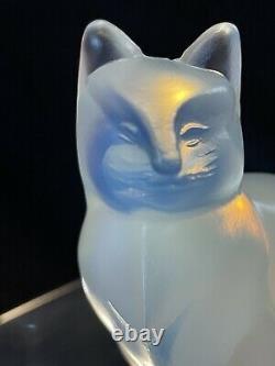 Verre Sabino, Grande Figurine De 4 Chats, État Parfait, Art En Verre Français