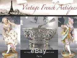 Vintage Art Déco Français Plaque D'argent Porte-couteaux, Chien Chat Oiseau Coq, France
