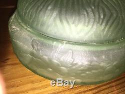 Vintage Art Deco Satin Vert Boite A Poudre Jar L E Smith Assis Felix Cat