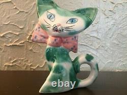 Vintage California Pottery Cats Par Anthony Freeman Mcfarlin