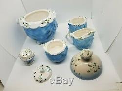 Vintage Lefton Mlle Priss Kitty Cat 5 Piece Tea Set Et 1950 Cookie Jar Rare