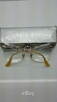 Vintage Lunettes, Vraiment Authentique, Original, Avec Le Cas, Cat Eye Style Jeweled