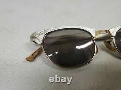 Vintage MCM Cat Eye Artcraft 1/10 12k Gf Gold 22mm Lunettes Avec Boîtier 4.5-5.75