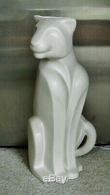 Vintage Royal Haeger 21 Tall! Statue De Chat Guépard De Style Art Déco Jaguar