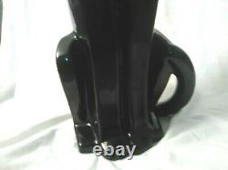 Vintage Royal Haeger Art Déco Black Panther Big Cat Ceramic Statue Figurine 21