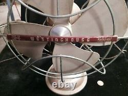 Vintage Westinghouse Art Deco 4 Blade Cat. #10 La 4 Electric Fan Des Années 1950