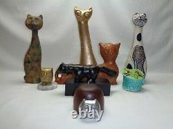Vtg Abstract Cat Figurine Moyen Siècle Danois Moderne Des Années 1960 1970 Art Déco Décor