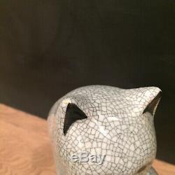 Vtg Porcelaine Céramique Figural Cat Art Déco Grand Beau Visage