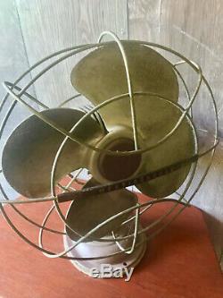 Vtg Westinghouse 2 Speed 14 Oscillant Fan De Style Art Déco Cat. No. 12 La 3 Travaux